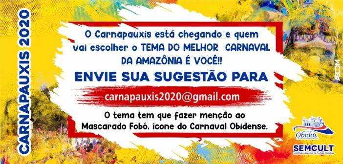 A Semcult, convida você para fazer o Carnapauxis 2020. Participe da nossa enquete