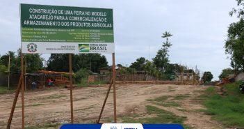 Prefeitura avança nas obras de construção da nova feira do produtor